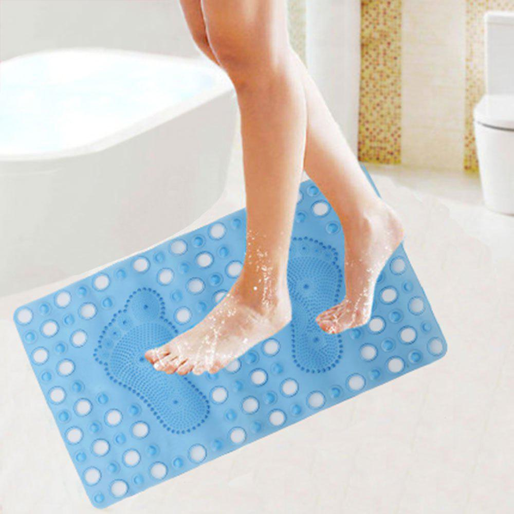 2018 Bathroom Antislip Foot Print PVC Bath Floor Mat BLUE W INCH L ...
