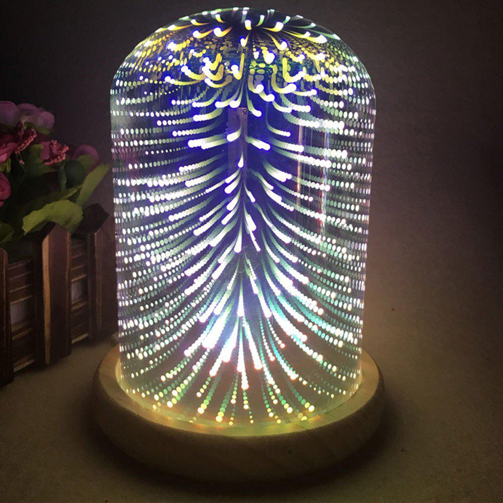 3D Colourful Glass Shade Firework Night Light   COLORFUL