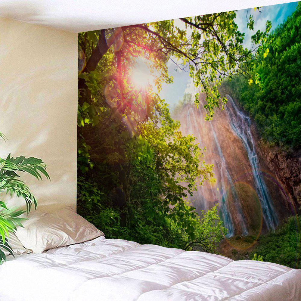 Wall Hanging Sunlight Canyon Print Tapestry - COLORMIX W91 INCH * L71 INCH