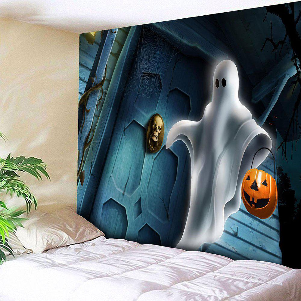 halloween pumpkin lamp ghost wall tapestry colormix w inch l inch in wall tapestries. Black Bedroom Furniture Sets. Home Design Ideas