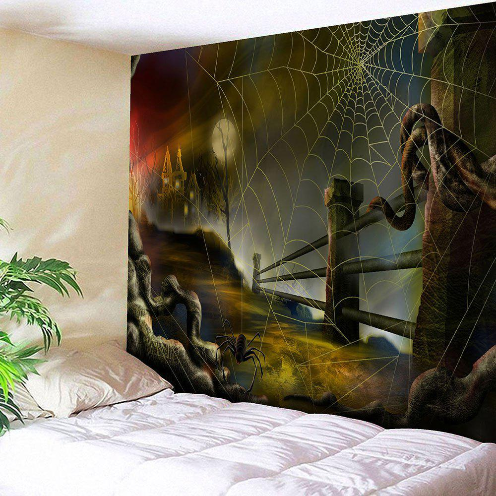Halloween Spider Web Pattern Wall Tapestry stephen sills decoration