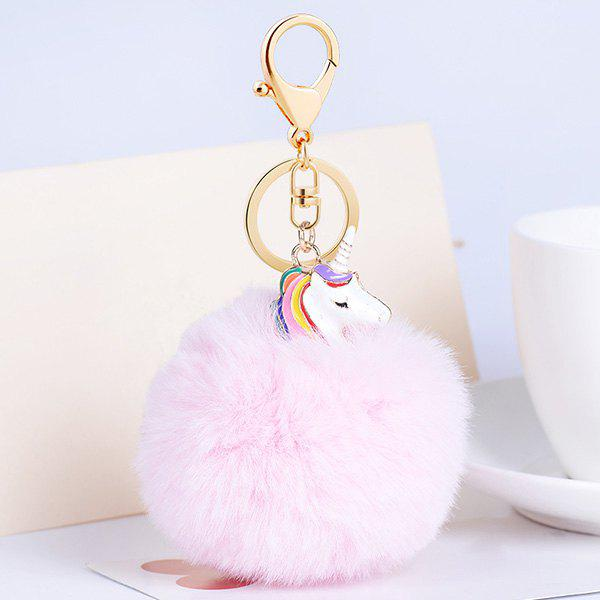 Pompon Puff Ball Pendant Keychain - LIGHT PINK