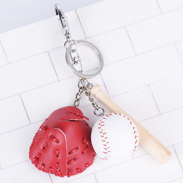 Cartoon Baseball Set Design Keyring - Rouge Clair
