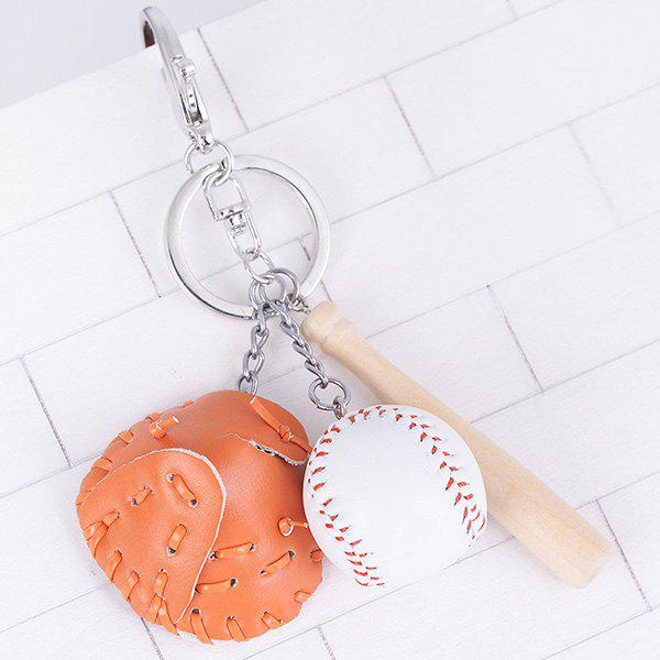Cartoon Baseball Set Design Keyring - Orange Clair