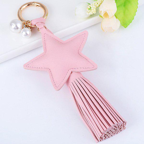 Satr Fringed Keychain - LIGHT PINK