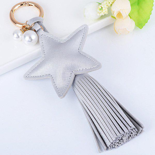 Satr Fringed Keychain - Argent