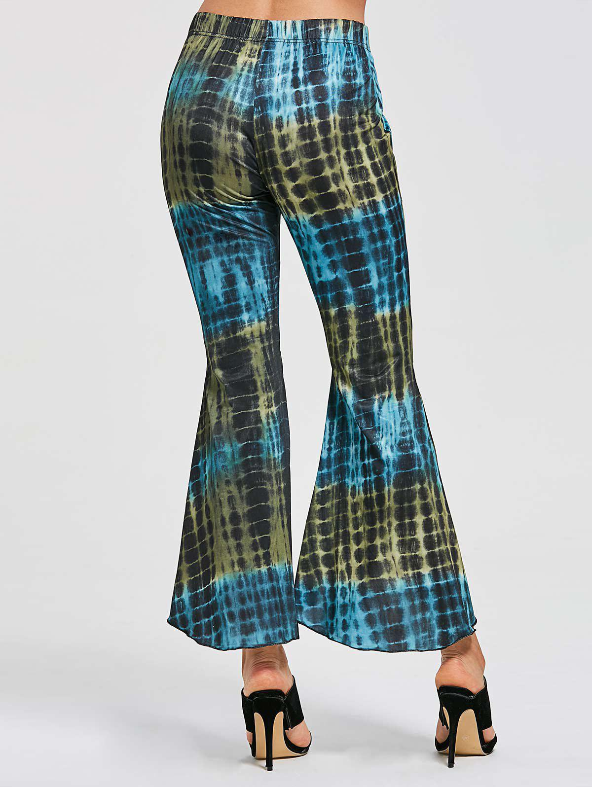 Flare Cover Up High Low Pants - COLORMIX XL
