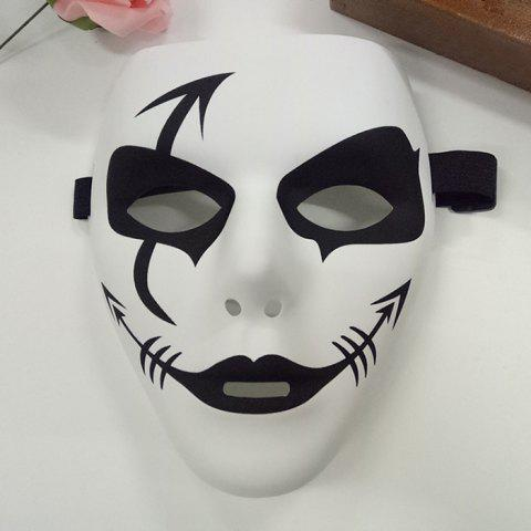 Halloween Party Hip Hop Mask - WHITE