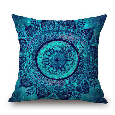 Mandala Decorative Linen Pillowcase - BLUE W18 INCH * L18 INCH