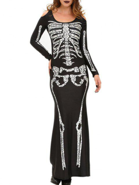 Skeleton Robe Maxi - Noir ONE SIZE