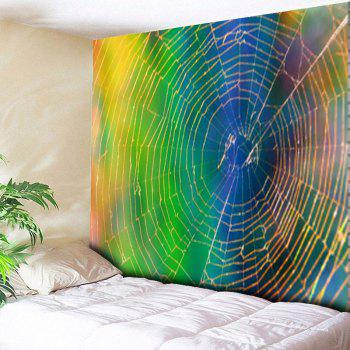 Spider Web Printed Wall Hanging Tapestry
