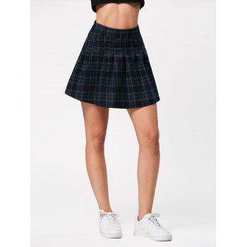 High Waist Plaid Mini Pleated Skirt