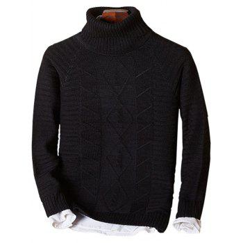Ribbed Knit Raglan Sleeve Funnel Neck Sweater