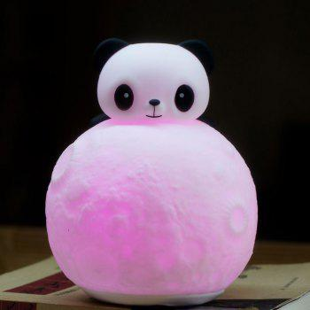 Color Change Remote Control Panda Moon Surface Shape Night Light - WHITE