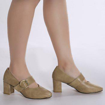 Mary Jane Square Toe Pumps - 38 38