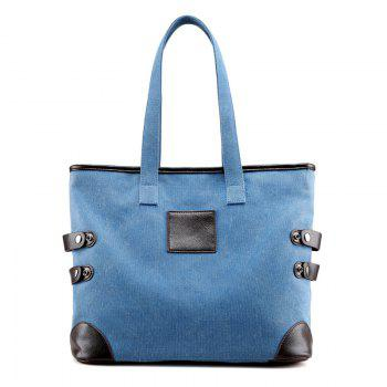 Canvas Button Casual Shoulder Bag