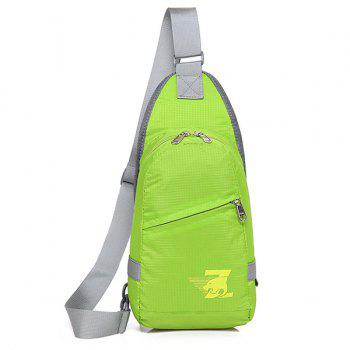 Zipper Nylon Front Cross Body Bag