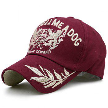Wheatear Totem Proverb Embroidered Baseball Hat