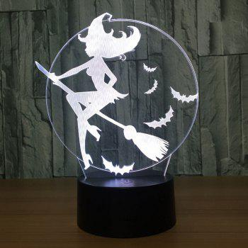 Halloween Witch Bat 7 Colors Change Decorative Light -  TRANSPARENT