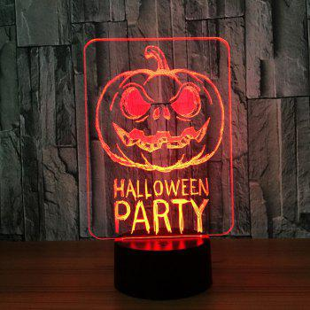 Colors Change Halloween Terrorist Pumpkin Decorative Light - TRANSPARENT TRANSPARENT
