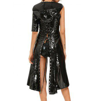 Lace Up Faux Leather Halloween Costume - L L