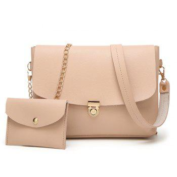 2 Pieces Faux Leather Crossbody Bag Set