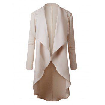 High Low Drape Coat