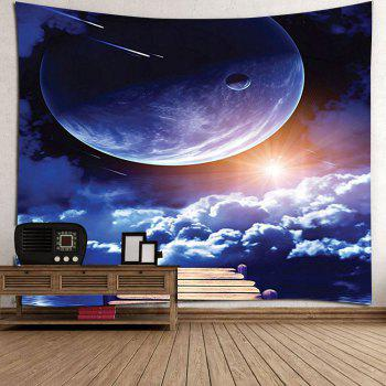 Sunrise and Planet Printed Wall Tapestry - COLORMIX W71 INCH * L71 INCH