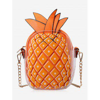 Chain Zip Pineapple Shape Crossbody Bag