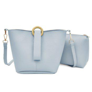 2 Pieces Faux Leather Crossbody Bag