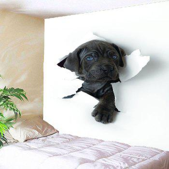 Through The Wall Puppy Printed Waterproof Hanging Tapestry - BLACK W79 INCH * L79 INCH