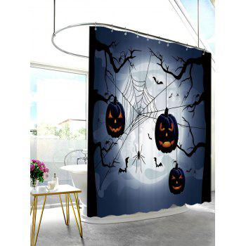 Halloween Gloomy Night Print Shower Curtain - MIDNIGHT W71 INCH * L79 INCH