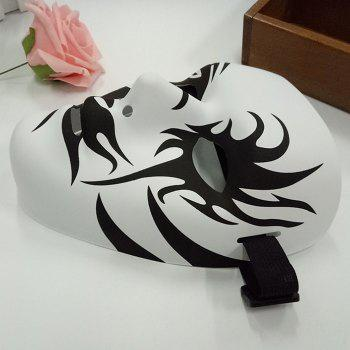 Halloween Party Hand-painted Devil Mask - WHITE