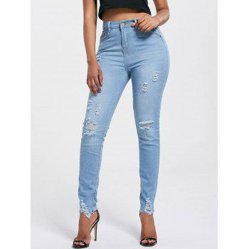 Ripped Skinny High Rise Jeans