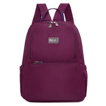 Double Pocket Zippers Nylon Backpack