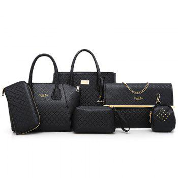 6 Pieces Argyle Pattern Handbag Set
