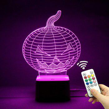 Halloween Pumpkin Remote Control Color Change Night Light