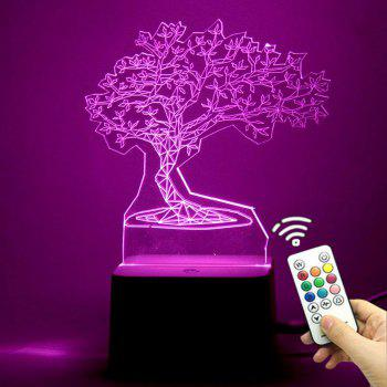 3D Tree Shape Remote Control Color Change Night Light