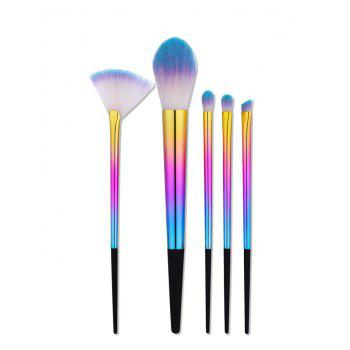 Ombre Tapered Handle Makeup Brushes Set