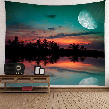 Waterproof Sunset Glow Pattern Wall Hanging Tapestry - COLORMIX W79 INCH * L71 INCH
