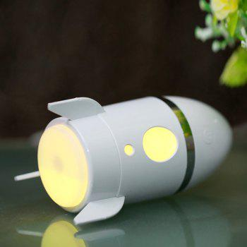 Rocket Air Humidifier With Color Changing LED Light -  WHITE