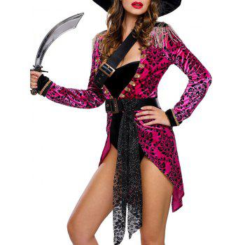 Velvet Pirate Cosplay Costume Outfits - PURPLISH RED L