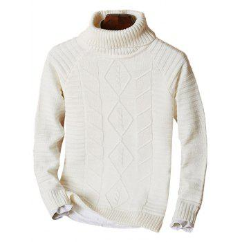 Funnel Neck Raglan Sleeve Ribbed Knit Sweater