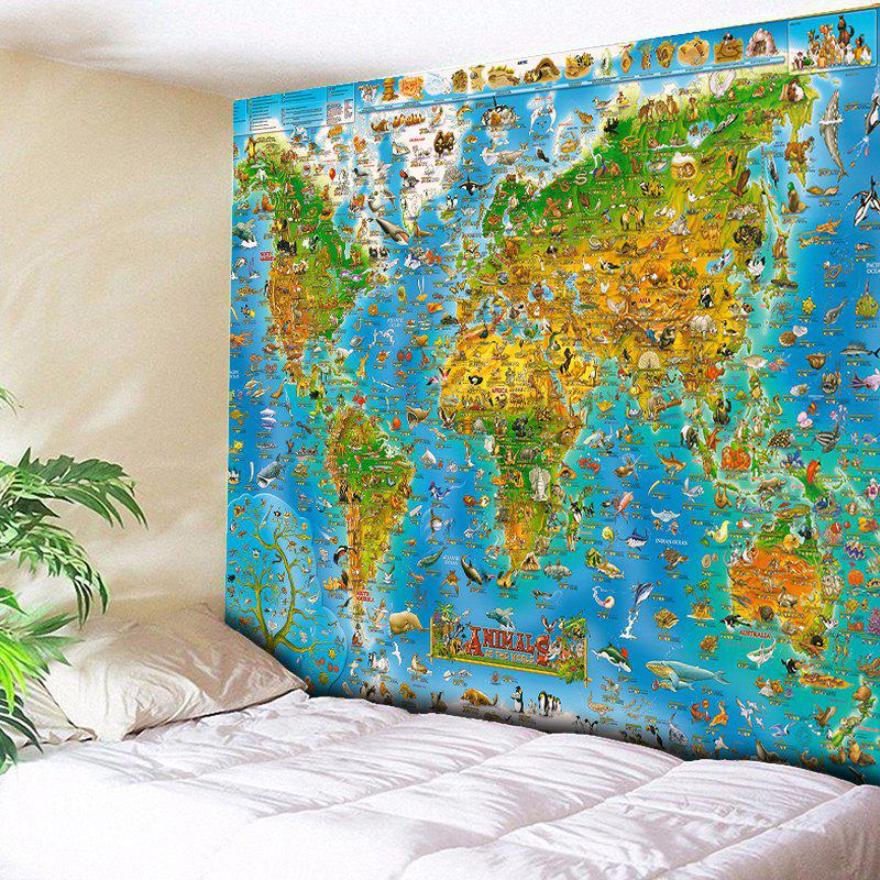 Wall Decor World Map Animal Tapestry 1pc 32cm world globe map ornaments with swivel stand home office office shop desk decor world map geography educational tool