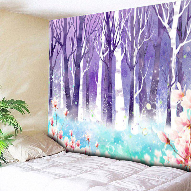 Wall Hanging Forest Floral Tapestry - PURPLE W59 INCH * L59 INCH