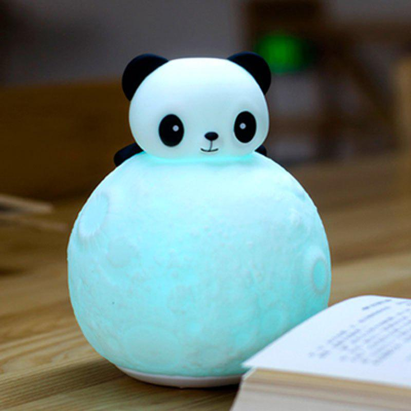 2017 color change remote control panda moon surface shape night light white in led night lights - Remote control night light ...