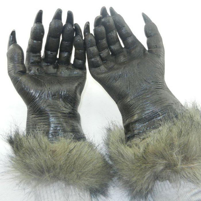 Halloween Party Wolf Claw Gloves - BLACK