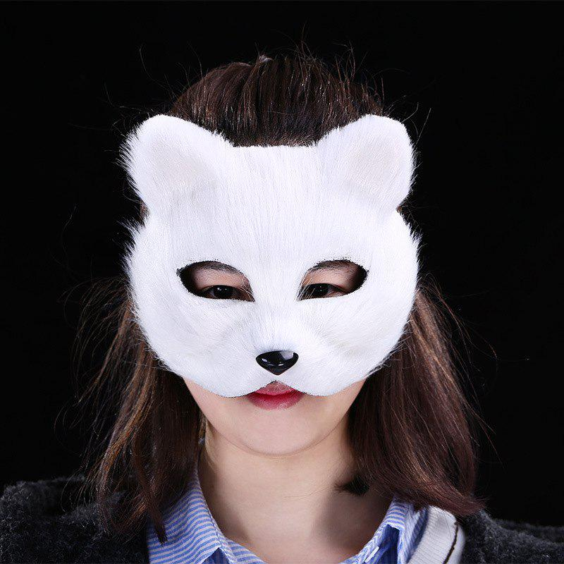 Halloween Party Fox Mask - WHITE