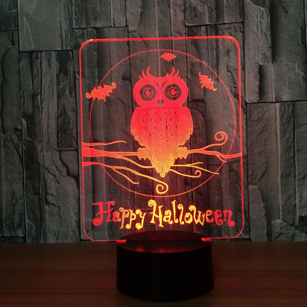 Halloween Owl 7 Colors Changing Night Light - TRANSPARENT