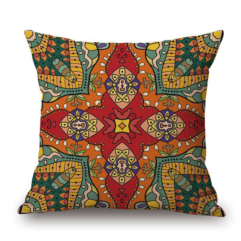 Mandala Print Linen Throw Pillowcase number eight print cotton linen throw pillowcase